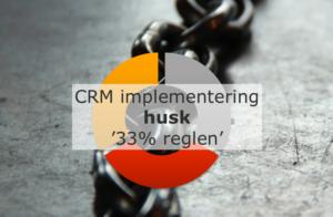 CRM implementering – husk '33% reglen'
